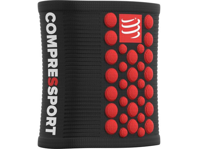 Compressport 3D Dots Manchettes, black-red